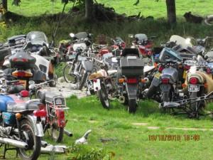 Concentration de motos anciennes.