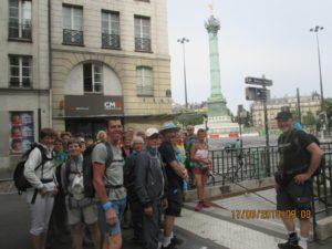 Départ le dimanche Place de la Bastille